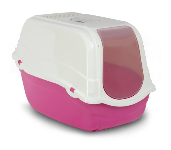 Bergamo Litter Pan Romeo With Top And Filter, Coral