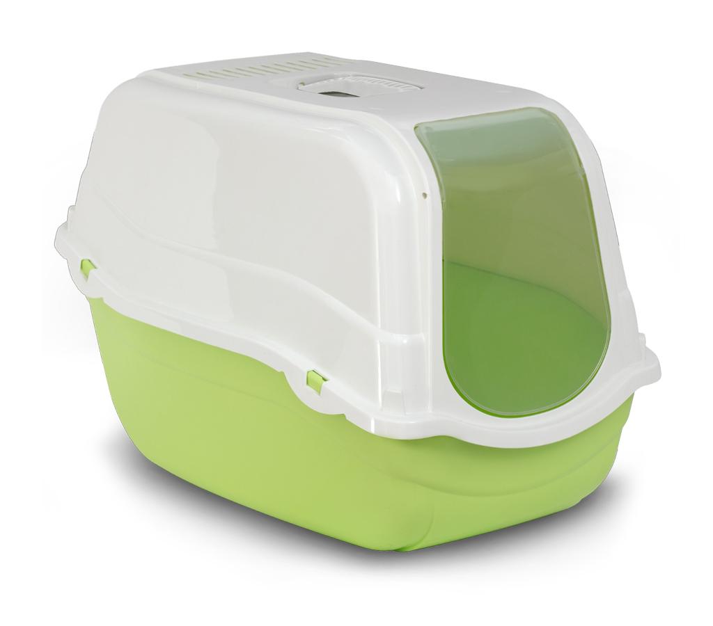 Bergamo Litter Pan Romeo With Top And Filter, Green