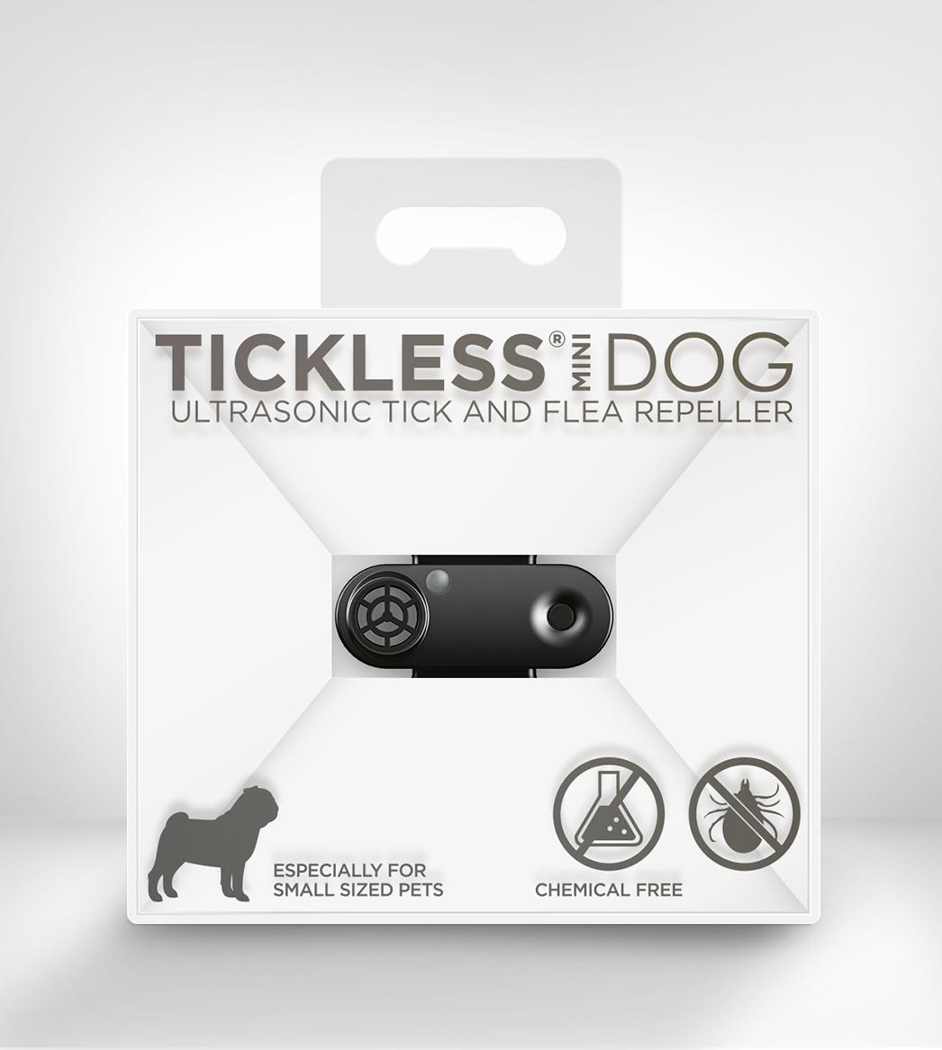 Tickless Mini Ultrasonic Tick & Flea Repeller For Dogs, Black