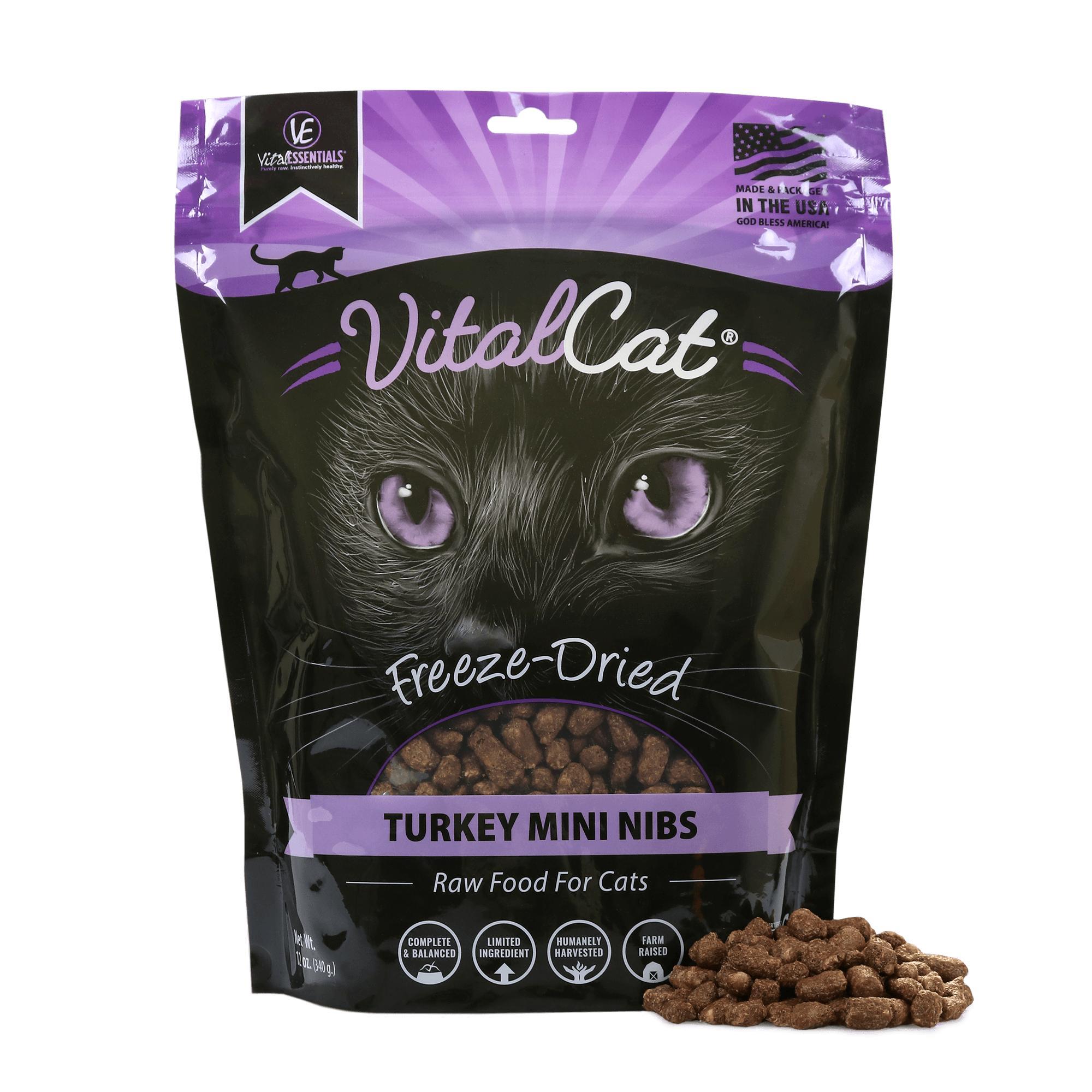 Vital Essentials Vital Cat Turkey Mini Nibs Entree Freeze-Dried Cat Food Image
