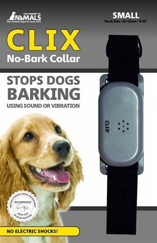 Company of Animals Clix No Bark Dog Collar, Black, Small