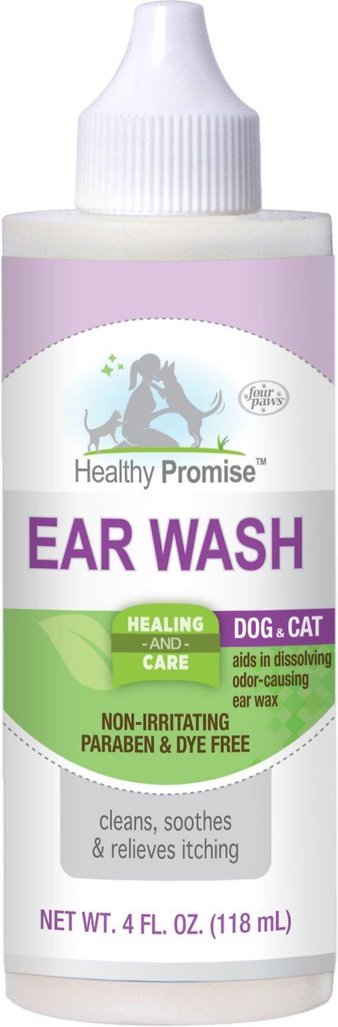 Four Paws Healthy Promise Dog & Cat Ear Wash, 4-oz