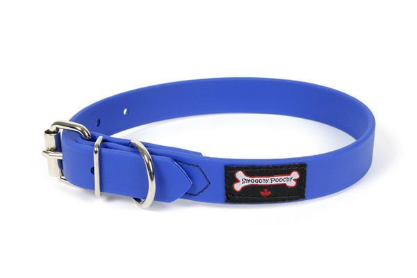 Smoochy Poochy Polyvinyl Waterproof Dog Collar, Ocean, Medium