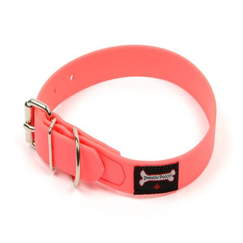Smoochy Poochy Polyvinyl Waterproof Dog Collar, Hot Pink, Medium