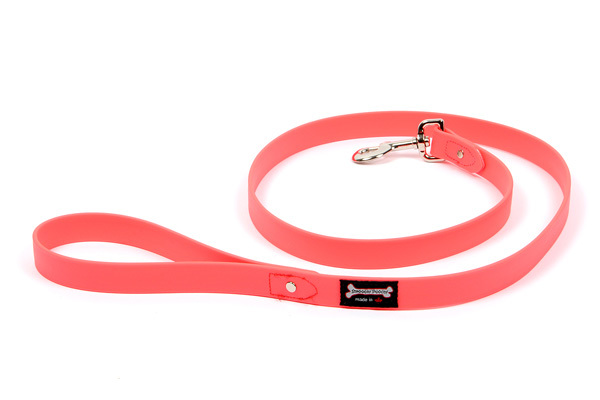 Smoochy Poochy Polyvinyl Waterproof Leash,Hot Pink, 1-in x 5-ft