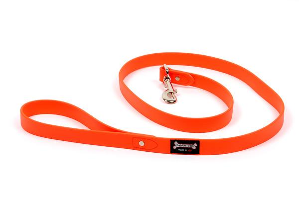 Smoochy Poochy Polyvinyl Waterproof Leash, Orange 1-in x 5-ft