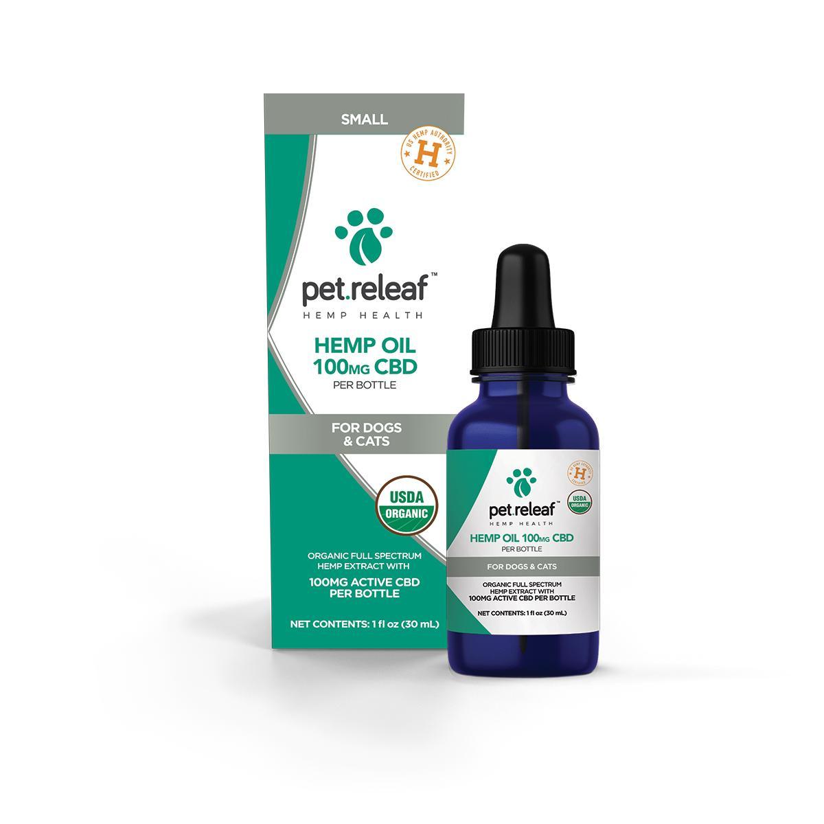 Pet Releaf Oil Alternative Supplement for Pets, 100-mg, 1-oz