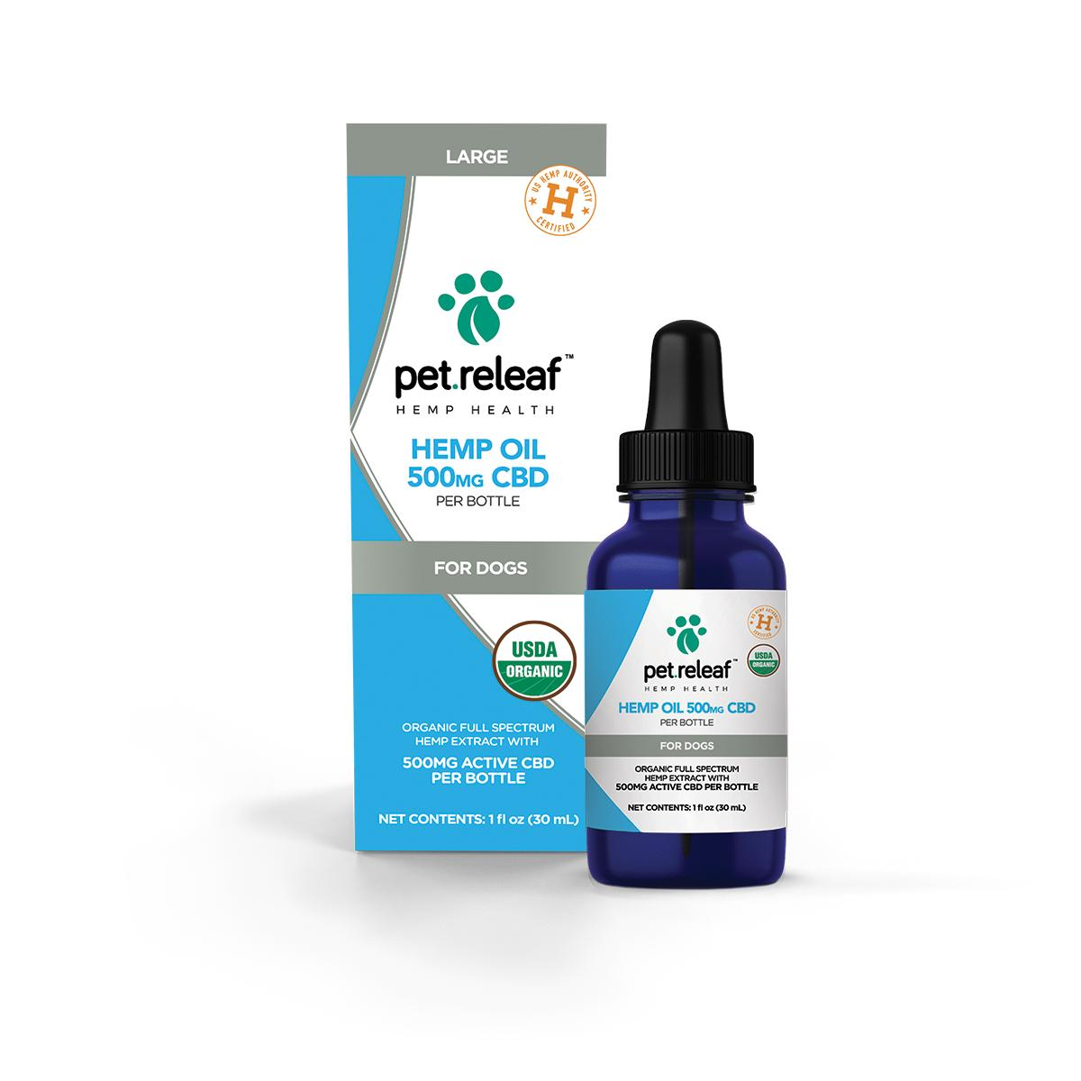 Pet Releaf Oil Alternative Supplement for Pets, 500mg, 1-oz