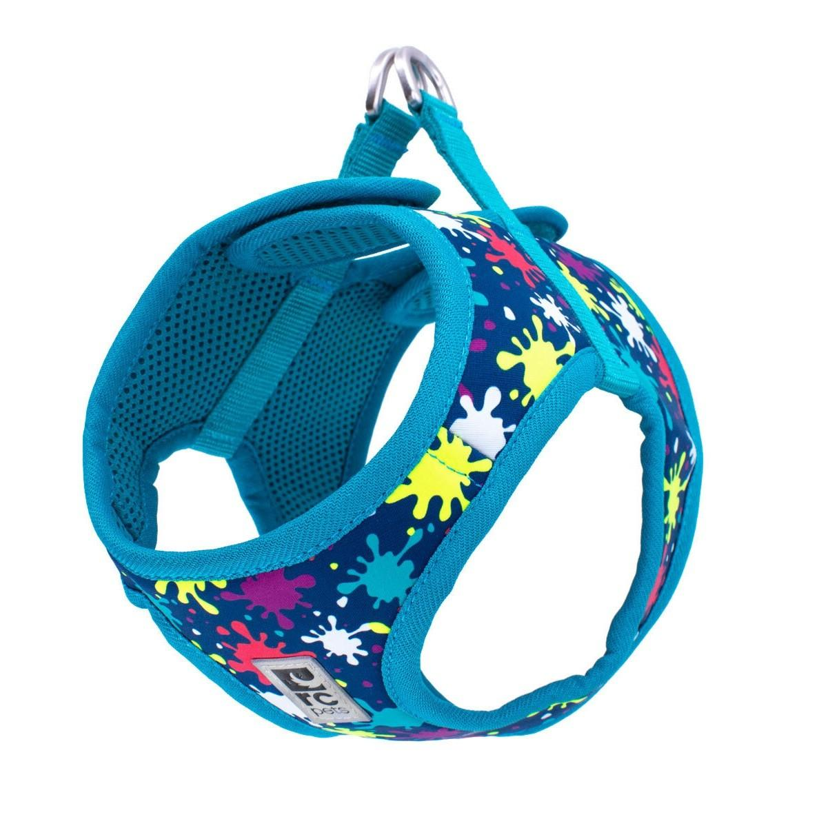RC Pet Products Step in Cirque Dog Harness, Splatter, Large