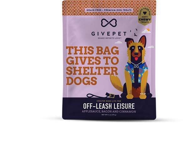 GivePet Off-Leash Leisure Grain-Free Dog Treats, 6-oz