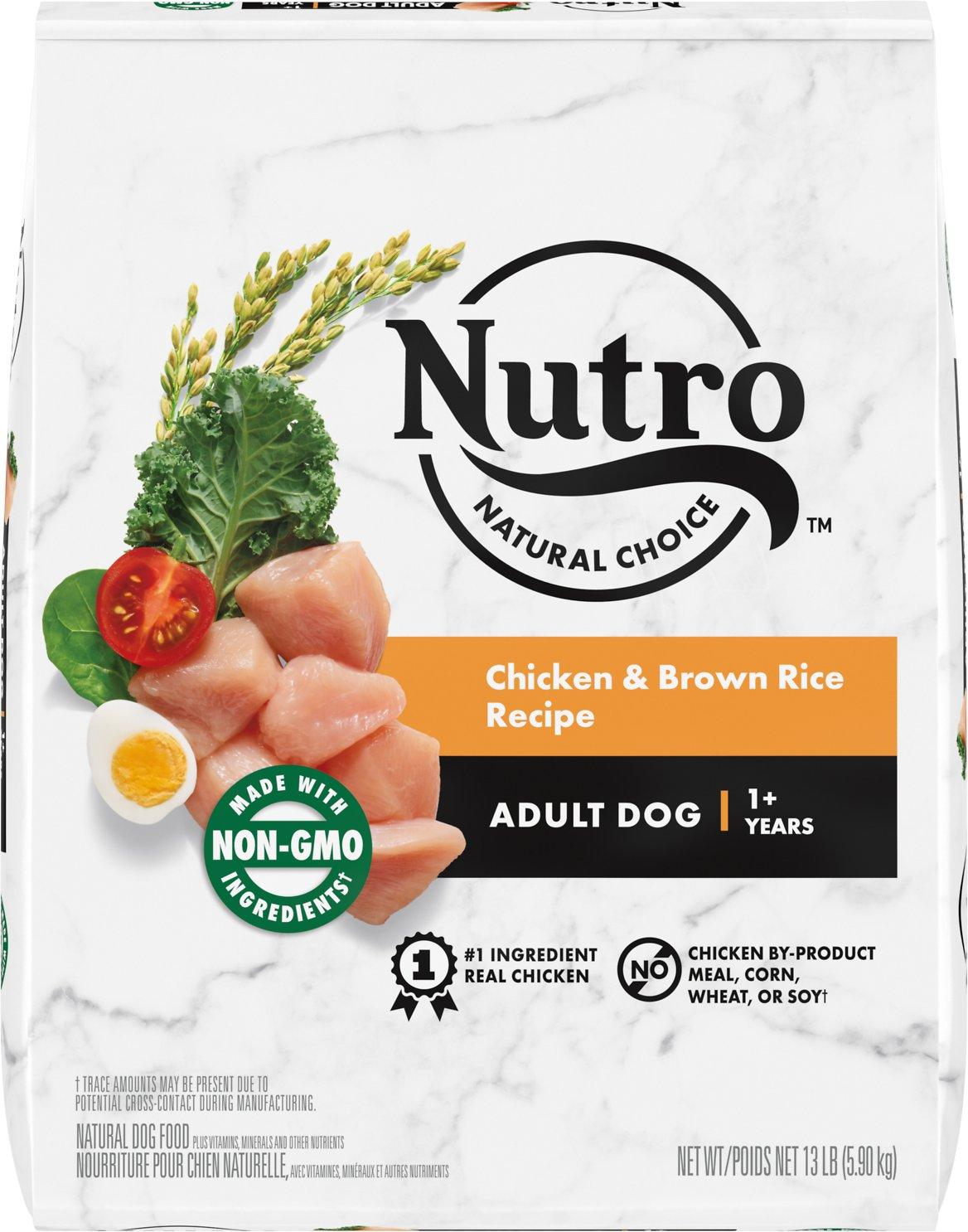 Nutro Natural Choice Chicken & Brown Rice Dry Dog Food, 13-lb