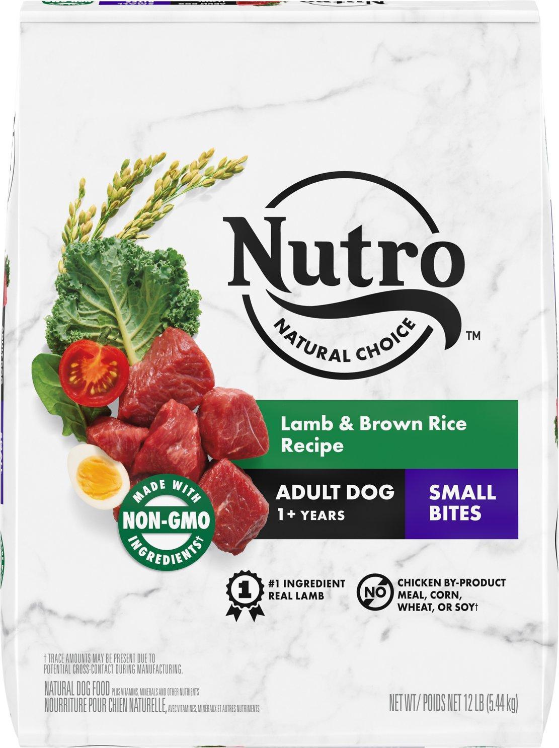 Nutro Natural Choice Small Bites Lamb & Brown Rice Dry Dog Food, 12-lb