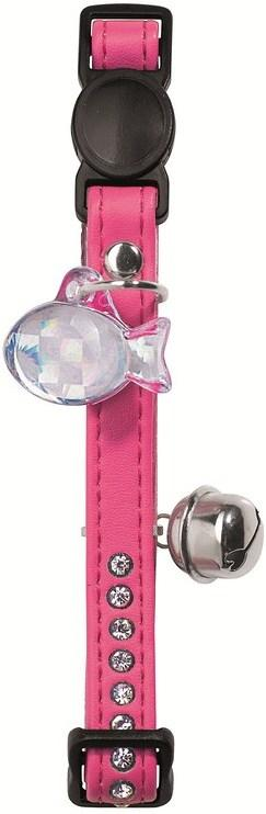 Hunter Cat Collar Modern Art Luxus Faux leather, Pink & White