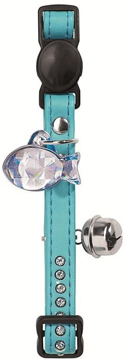 Hunter Cat Collar Modern Art Luxus Faux leather Turquoise White