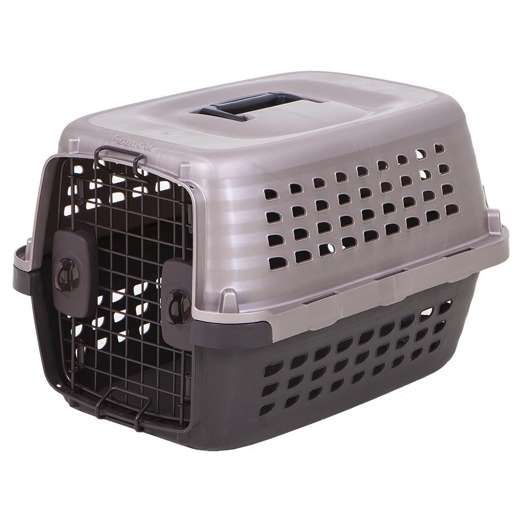 Petmate Navigator Plastic Dog Kennel, Tan/Brown