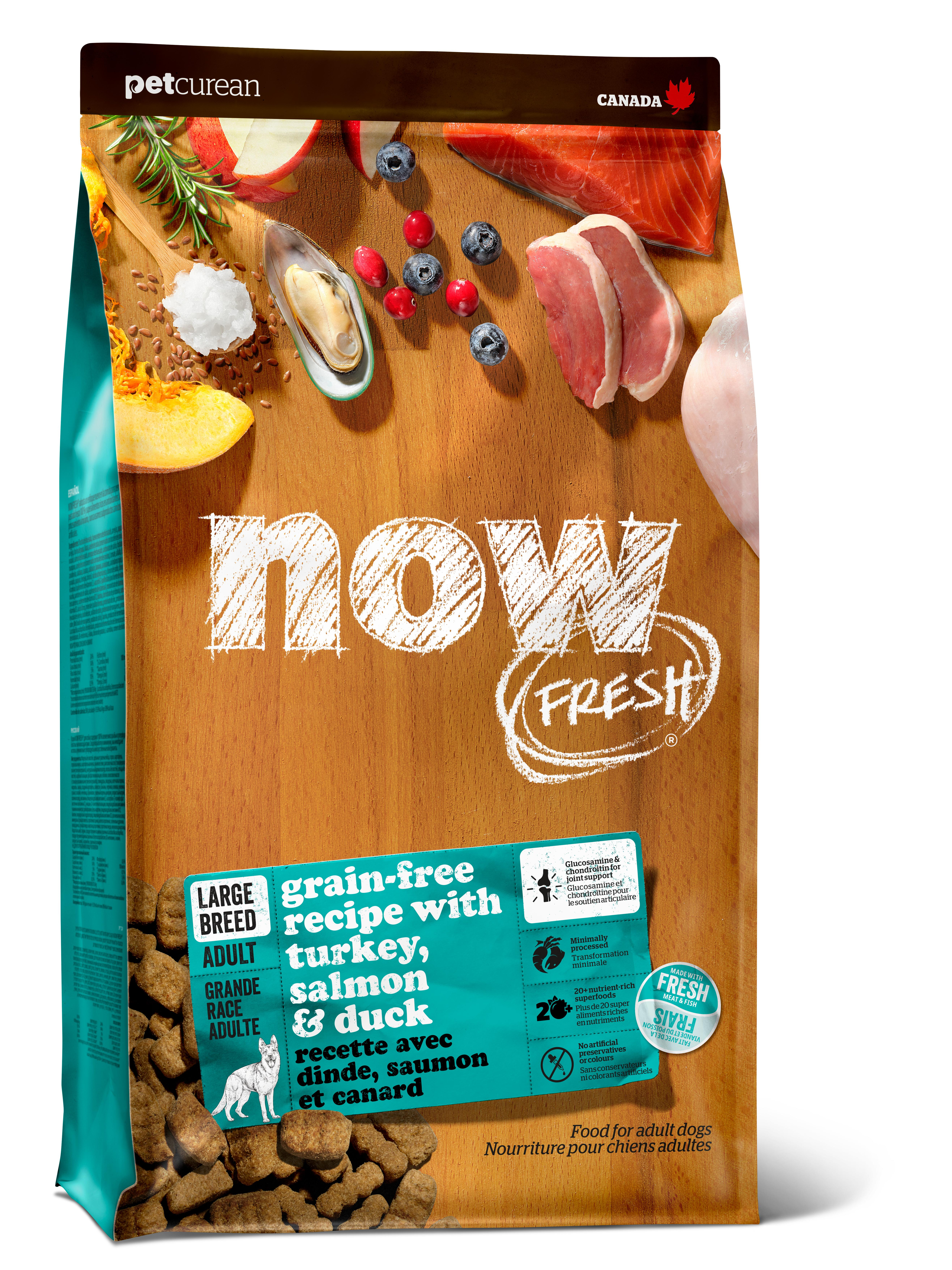 NOW FRESH Large Breed Adult Recipe Grain-Free Dry Dog Food, 25-lb