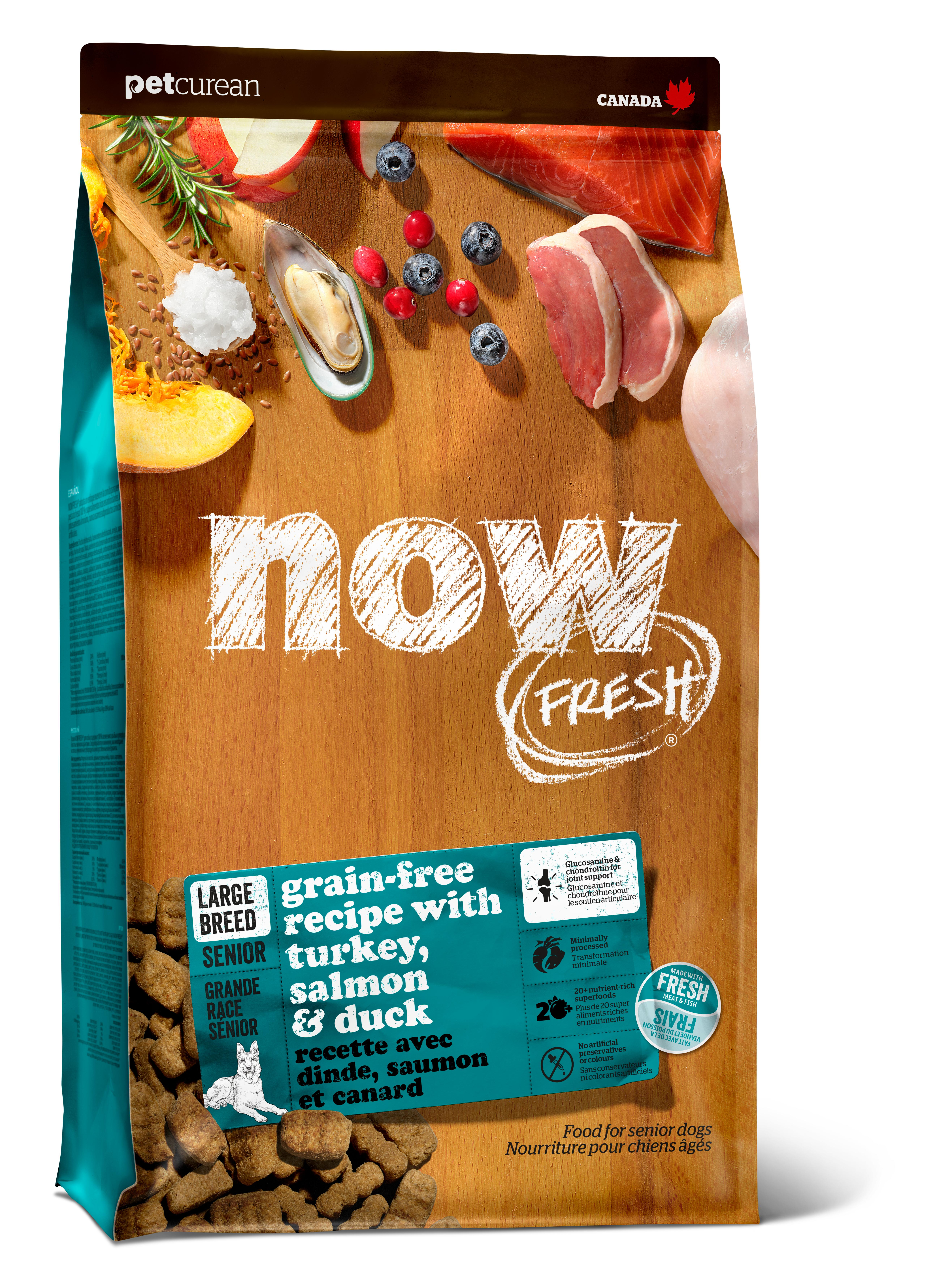 NOW FRESH Large Breed Senior Recipe Grain-Free Dry Dog Food, 25-lb