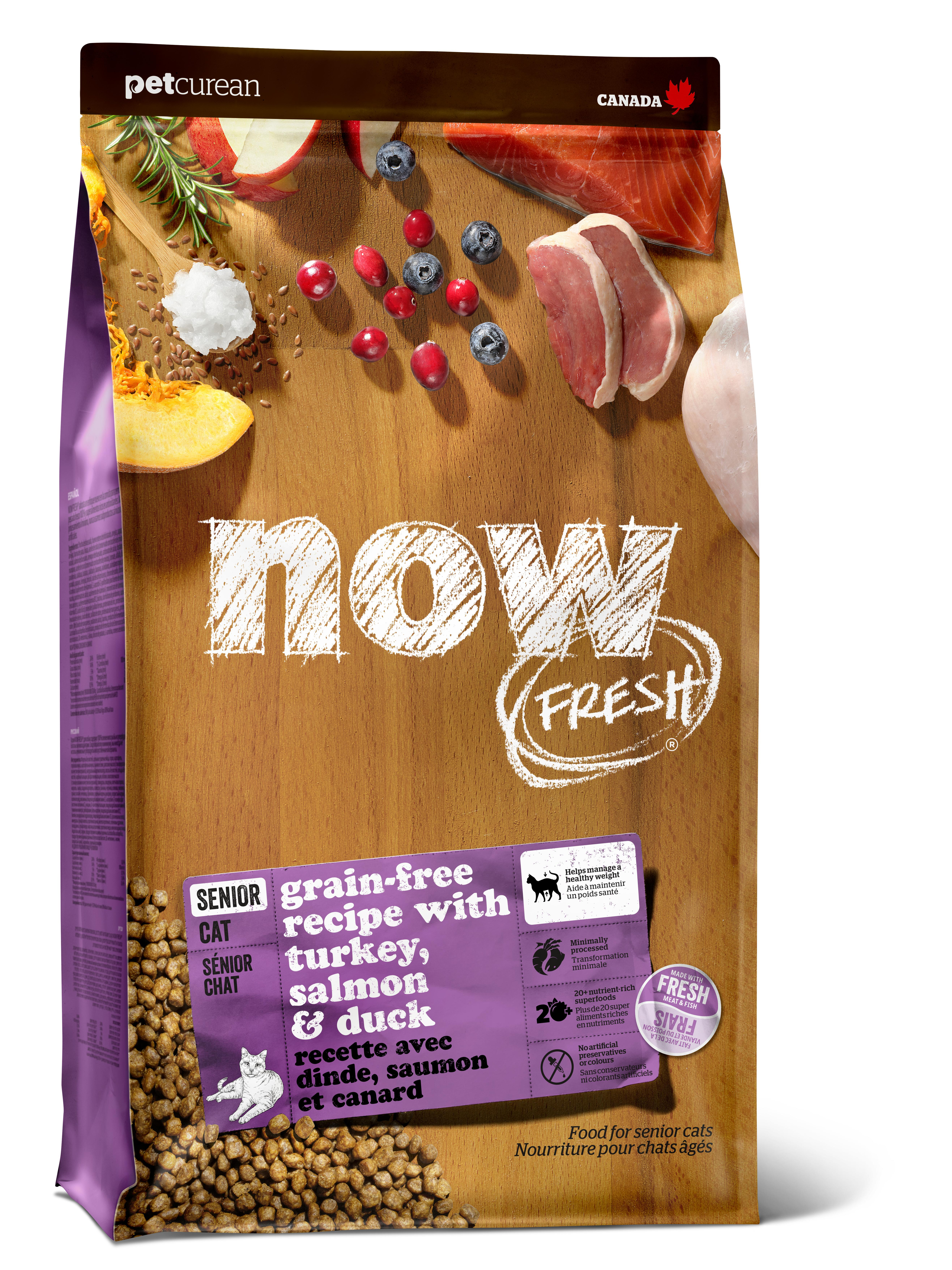 NOW FRESH Senior Recipe Grain-Free Dry Cat Food Image