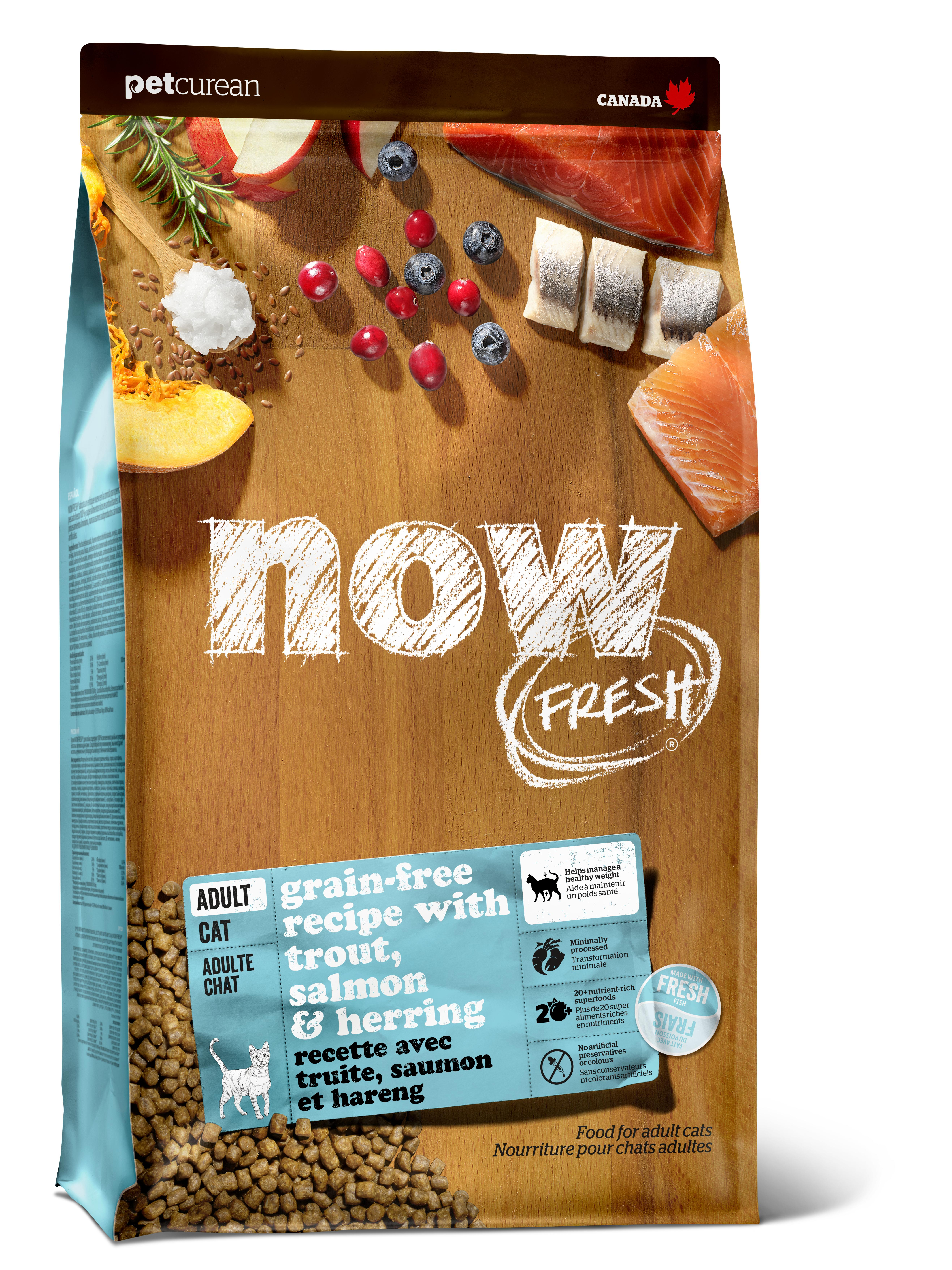 NOW FRESH Fish Adult Recipe Grain-Free Dry Cat Food Image