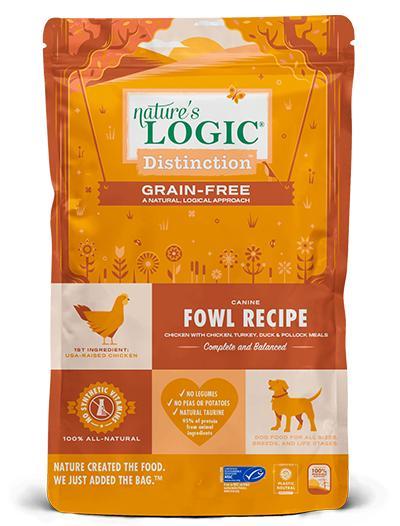 Nature's Logic Distinction Fowl Grain-Free Dry Dog Food, 4.4-lb