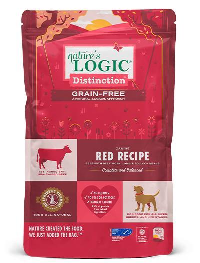 Nature's Logic Distinction Red Grain-Free Dry Dog Food, 24-lb