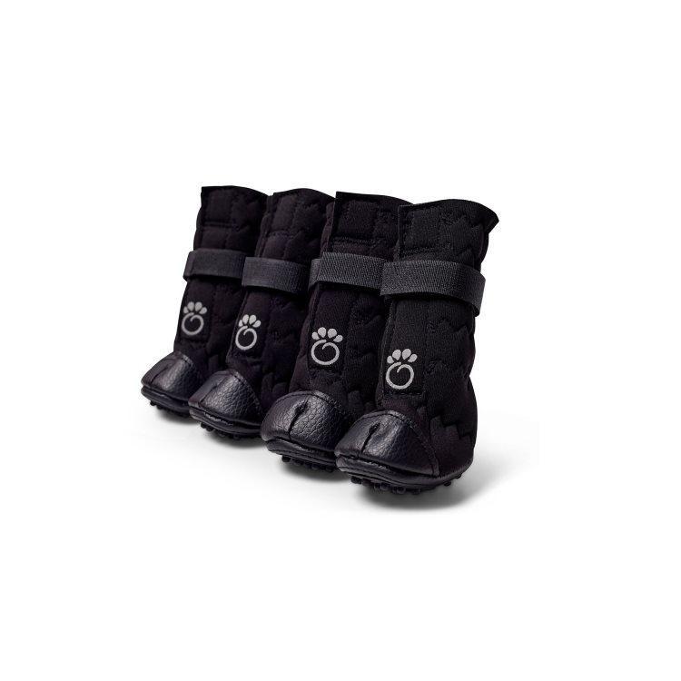 GF Pet Elastofit Dog Boots, Black Image