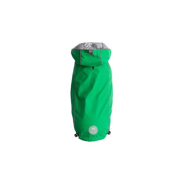 GF Pet Elastofit Reversible Dog Raincoat, Green, Large