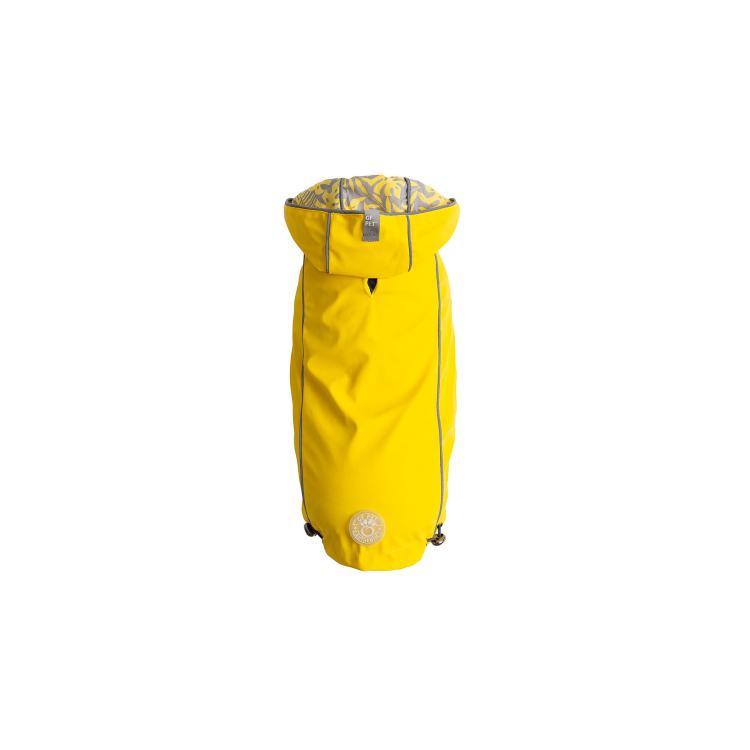 GF Pet Elastofit Reversible Dog Raincoat, Yellow, Medium