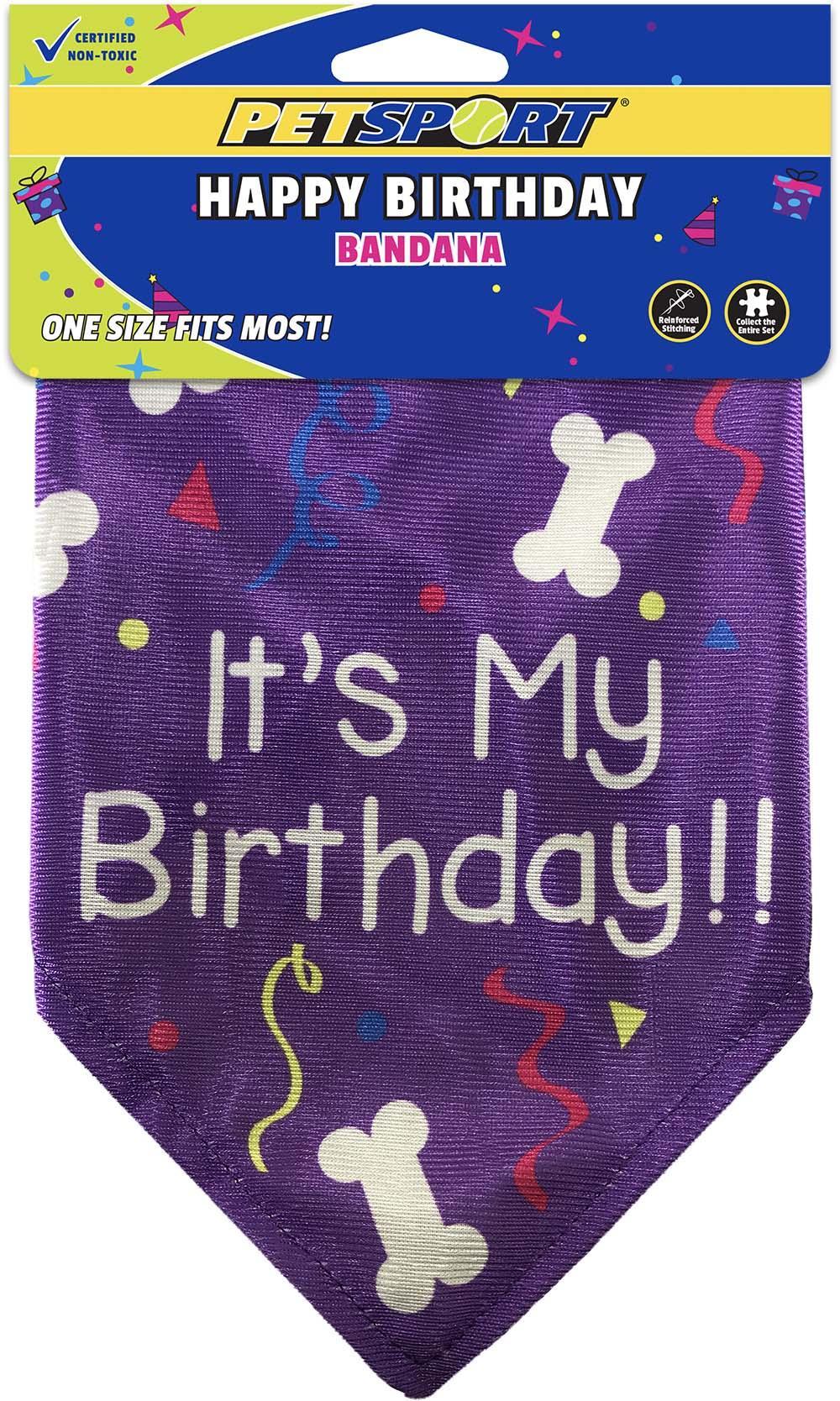PetSport Happy Birthday Dog Bandana Image