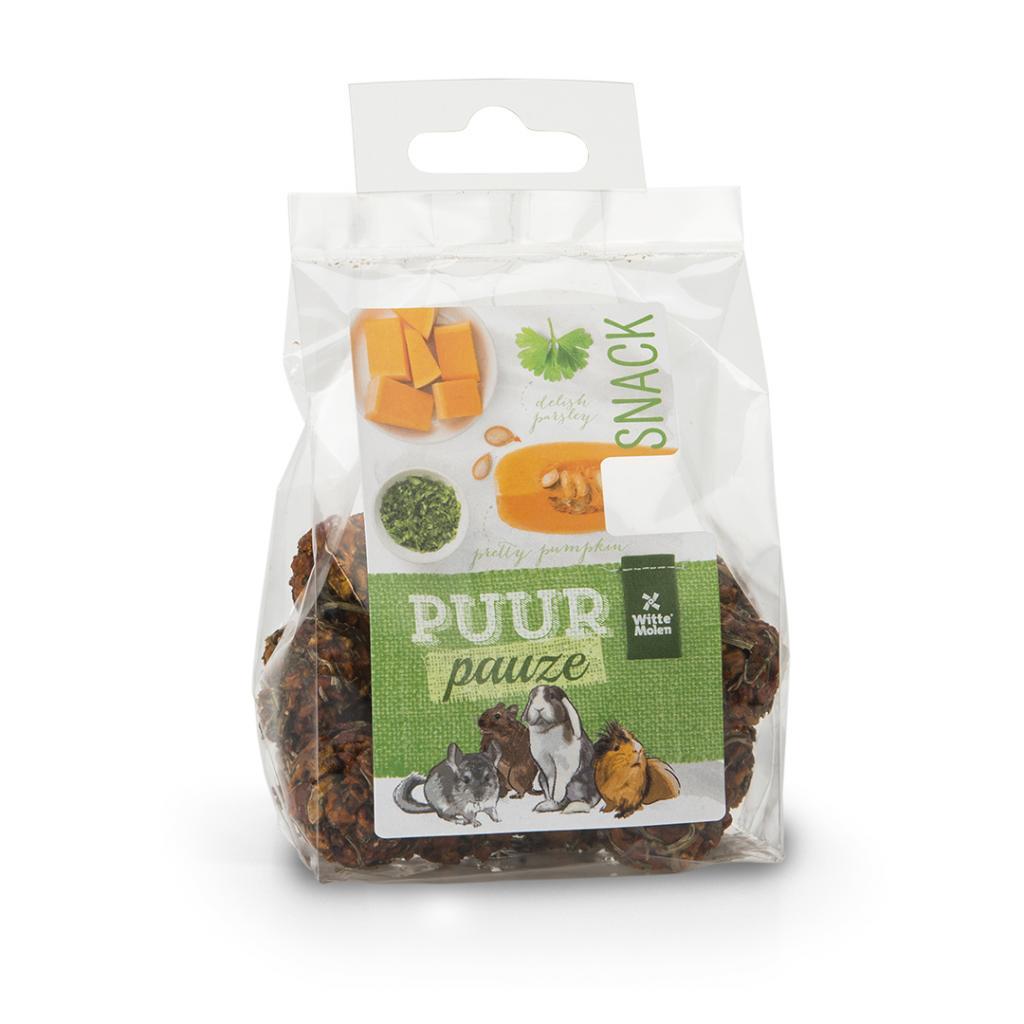 Witte Molen PURR Pauze Vegetable Balls with Parsley & Pumpkin Small Animal Treats, 100-gram