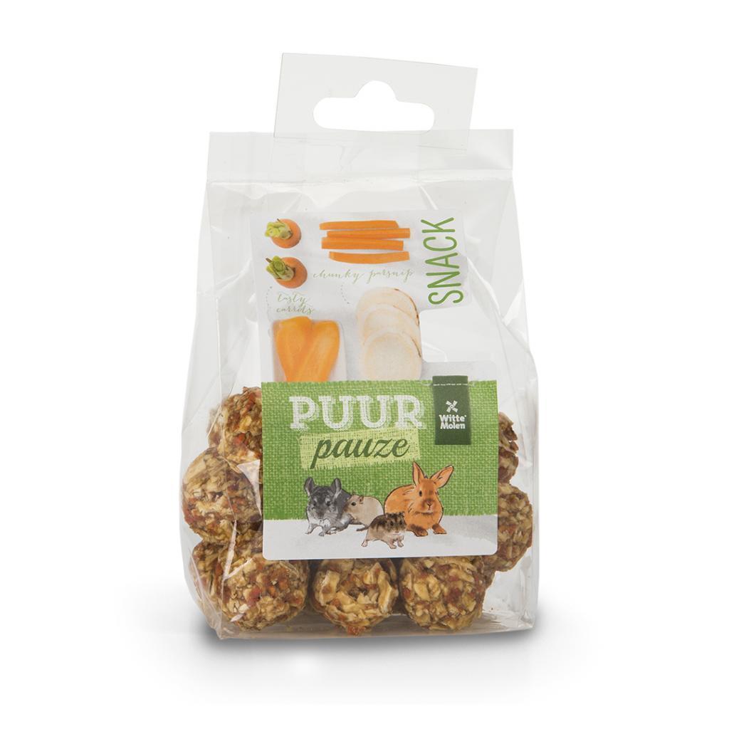 Witte Molen PURR Pauze Vegetable Balls with Carrot & Parsnip Small Animal Treats, 100-gram