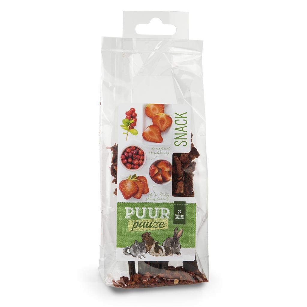 Witte Molen PURR Pauze Strawberry Wooden Chew Stick Small Animal Treats, 50-gram
