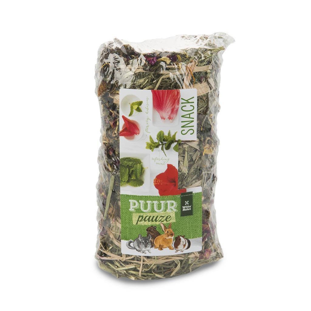 Witte Molen PUUR Pauze Hay Roll Flowers & Herbs Small Animal Treats, 200-gram