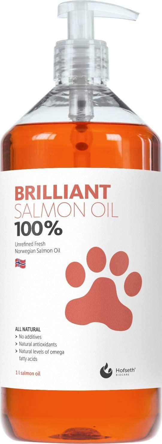 Brilliant 100% Salmon Oil Pet Supplement, 1-L