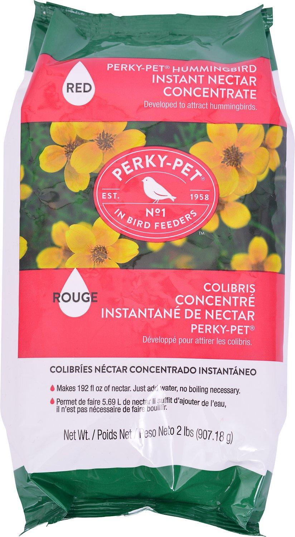Perky-Pet Hummingbird Instant Nectar Concentrate Wild Bird Food, Red, 2-lb