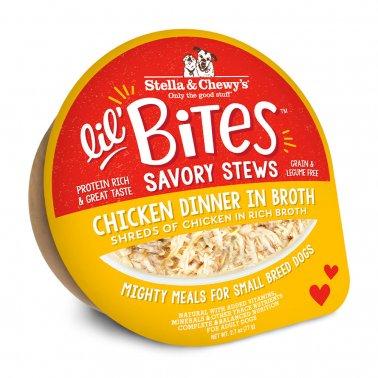 Stella & Chewy's Dog Lil Bites Savory Stew Chicken, 2.7-oz