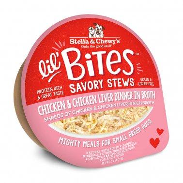 Stella & Chewy's Dog Lil Bites Savory Stew Chicken & Liver, 2.7-oz