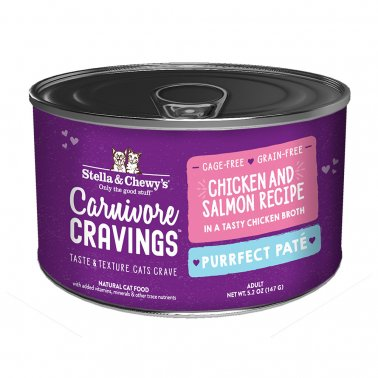 Stella & Chewy's Cat Carnivore Cravings Pate Chicken & Salmon, 5.2-oz