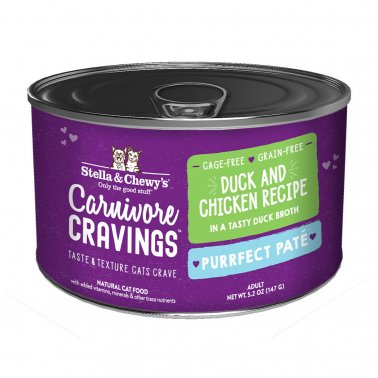 Stella & Chewy's Cat Carnivore Cravings Pate Duck & Chicken, 5.2-oz