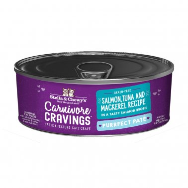 Stella & Chewy's Cat Carnivore Cravings Pate Salmon & Tuna, 2.8-oz