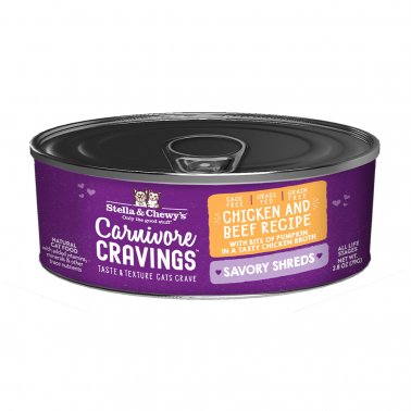 Stella & Chewy's Cat Carnivore Cravings Shred Chicken & Beef, 2.8-oz
