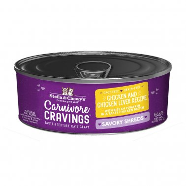 Stella & Chewy's Cat Carnivore Cravings Shred Chicken & Liver, 2.8-oz