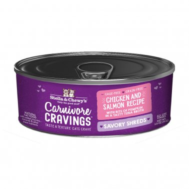 Stella & Chewy's Cat Carnivore Cravings Shred Chicken & Salmon, 2.8-oz