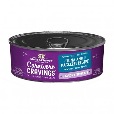 Stella & Chewy's Cat Carnivore Cravings Shred Tuna & Mackerel, 2.8-oz