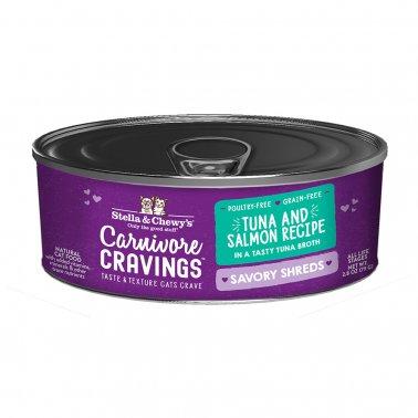 Stella & Chewy's Cat Carnivore Cravings Shred Tuna & Salmon, 2.8-oz