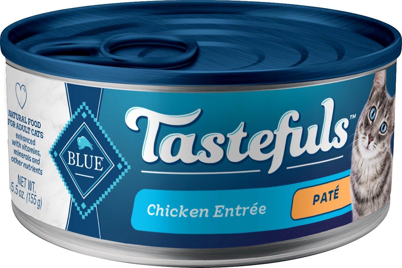 Blue Buffalo Tastefuls Chicken Entrée Pate Canned Cat Food, 5.5-oz