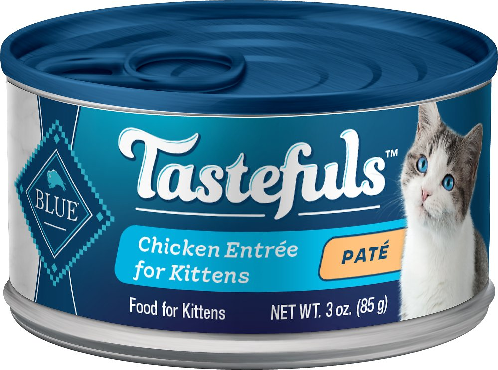 Blue Buffalo Tastefuls Chicken Entrée Pate Kitten Canned Cat Food Image
