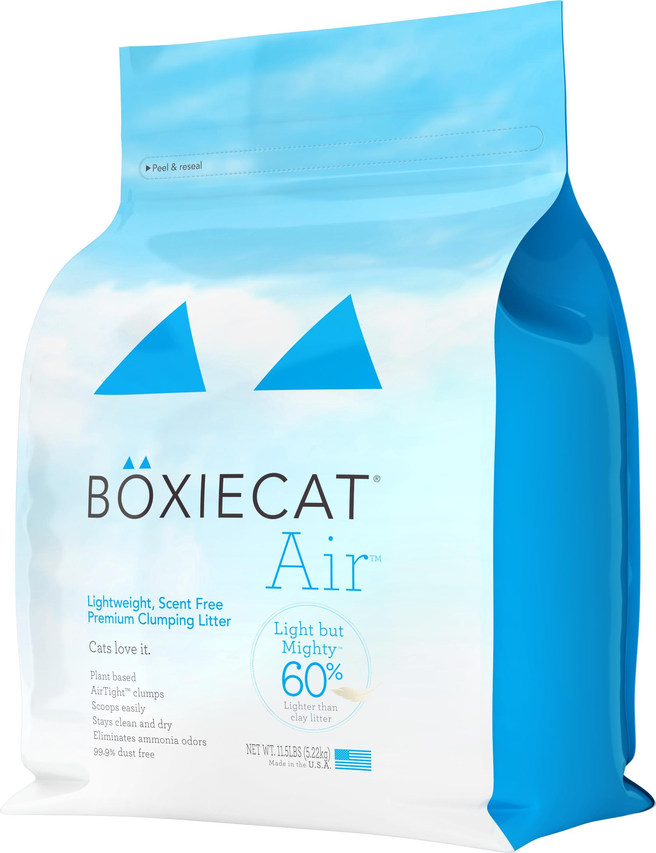 Boxiecat Air Lightweight, Scent Free, Premium Clumping Cat Litter, 11.5-lb