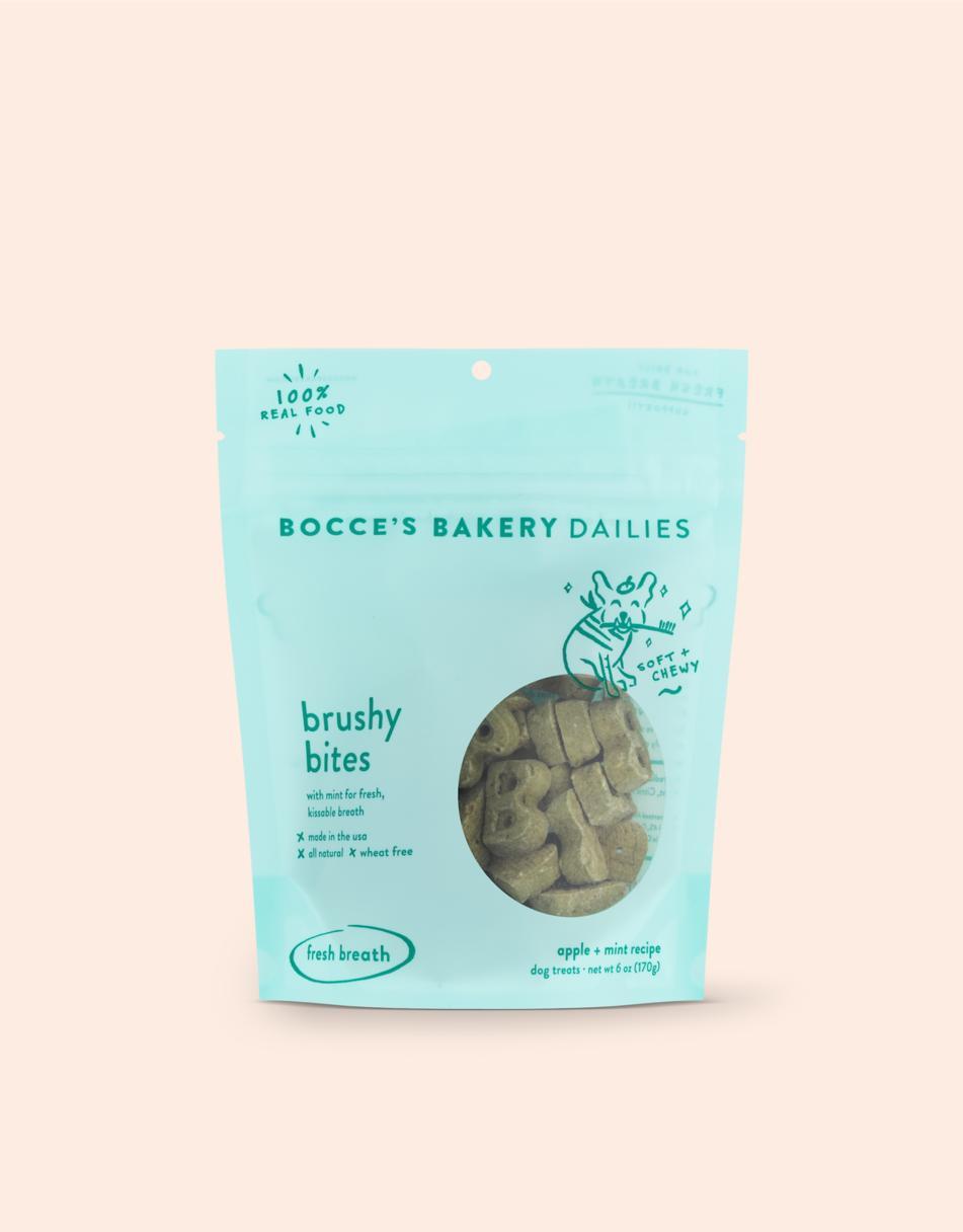 Bocce's Bakery Dailies Brushy Bites Dog Treats, 6-oz
