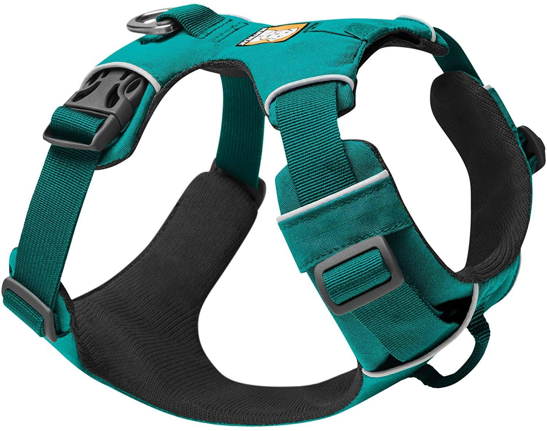 Ruffwear Front Range Dog Harness, Aurora Teal, Medium (27-32-in)